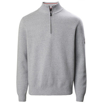 Musto Milano 1/2 Zip Neck Knit Grey Marl Front View