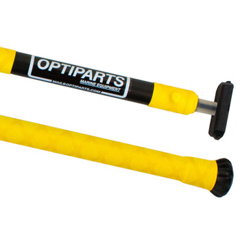 Optiparts Optimist Tiller Extension - X-Gripped - Yellow - 20mm