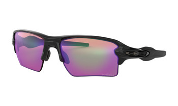 Oakley Flak 2.0 XL Sunglasses - Polished Black / Prizm Golf Polarized Angled
