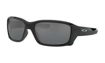 Oakley Straightlink Sunglasses - Polished Black / Prizm Black Polarized Angled