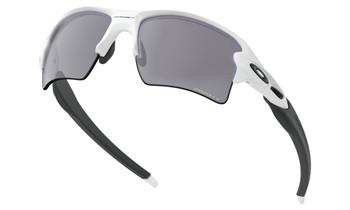Oakley Flak 2.0 XL Sunglasses - Polished White / Prizm Black Polarized