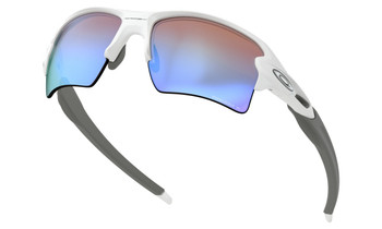 Oakley Flak 2.0 XL Sunglasses - Polished White / Prizm Deep Water Polarized Lower Angle