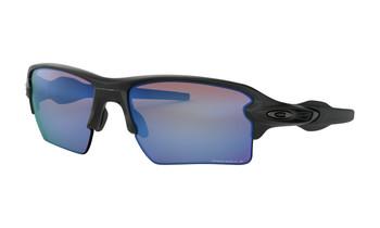 Oakley Flak 2.0 XL Sunglasses - Matte Black / Prizm Deep Water Polarized Angled