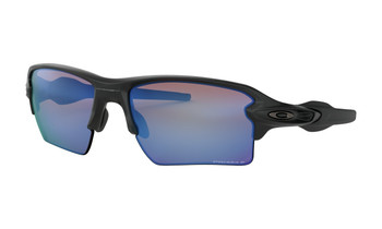 Oakley Flak 2.0 XL Sunglasses - Matte Black / Prizm Deep Water Polarized Angled