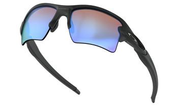 Oakley Flak 2.0 XL Sunglasses - Matte Black / Prizm Deep Water Polarized Lower Angle