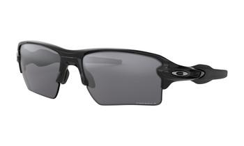 Oakley Flak 2.0 XL Sunglasses - Polished Black / Prizm Black Polarized Angled