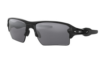 Oakley Flak 2.0 XL Sunglasses - Polished Black / Prizm Black Polarized Angled