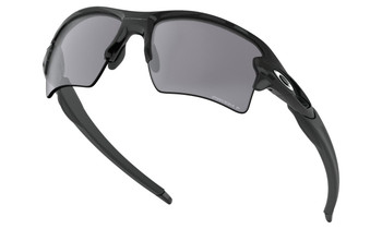 Oakley Flak 2.0 XL Sunglasses - Polished Black / Prizm Black Polarized Lower Angle