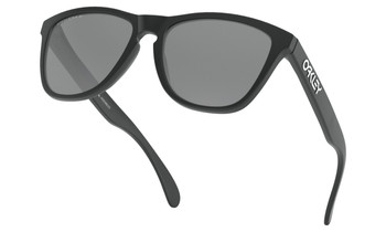 Oakley Frogskins Sunglasses - Matte Black / Prizm Black Polarised Lower Angle
