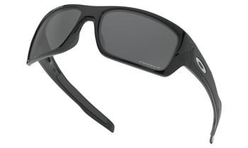 Oakley Turbine Sunglasses - Polished Black / Prizm Black Polarised Lower Angle