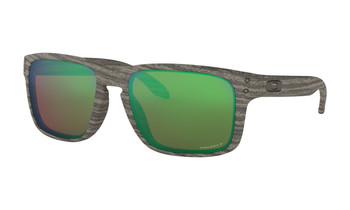 Oakley Holbrook Sunglasses - Woodgrain / Prizm Shallow Water Polarized Angled