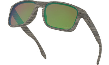 Oakley Holbrook Sunglasses - Woodgrain / Prizm Shallow Water Polarized Lower Angle