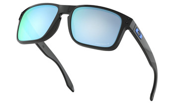 Oakley Holbrook Sunglasses - Polished Black / Prizm Deep Water Polarised Lower Angle