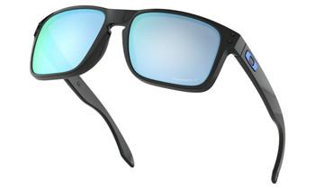 Oakley Holbrook Sunglasses - Polished Black / Prizm Deep Water Polarised Lower Angle