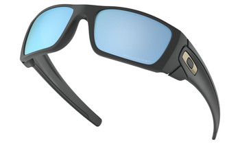 Oakley Fuel Cell Sunglasses - Matte Black / Prizm Deep Water Polarised Lower Angle
