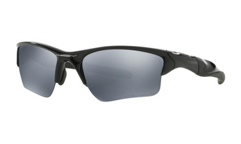 Oakley Half Jacket 2.0 XL Sunglasses - Polished Black / Black Iridium Polarised Angled