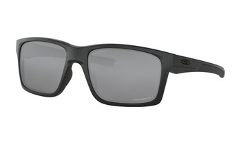 Oakley Mainlink Sunglasses - Matte Black / Prizm Black Polarised Angled