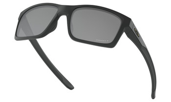 Oakley Mainlink Sunglasses - Matte Black / Prizm Black Polarised Lower Angle