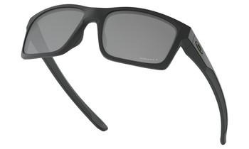 Oakley Mainlink Sunglasses - Matte Black / Prizm Black Polarised Lower Angle