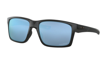 Oakley Mainlink XL Sunglasses - Polished Black / Prizm Deep Water Polarized Angled
