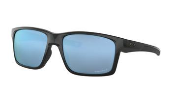Oakley Mainlink XL Sunglasses - Polished Black / Prizm Deep Water Polarized Angled