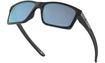 Oakley Mainlink XL Sunglasses - Polished Black / Prizm Deep Water Polarized Lower Angle