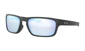 Oakley Sliver Stealth Sunglasses - Matte Black / Prizm Deep Water Polarised Angled