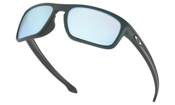 Oakley Sliver Stealth Sunglasses - Matte Black / Prizm Deep Water Polarised Lower Angle
