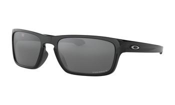 Oakley Sliver Stealth Sunglasses - Polished Black / Prizm Black Polarised Angled