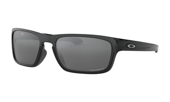 Oakley Sliver Stealth Sunglasses - Polished Black / Prizm Black Polarised Angled