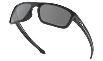 Oakley Sliver Stealth Sunglasses - Polished Black / Prizm Black Polarised Low Angle