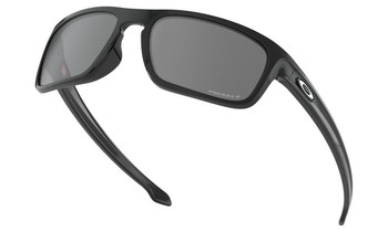 Oakley Sliver Stealth Sunglasses - Polished Black / Prizm Black Polarised Low Angle