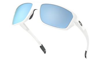 Oakley Split Shot Sunglasses - Polished White / Prizm Deep Water Polarised Low Angle