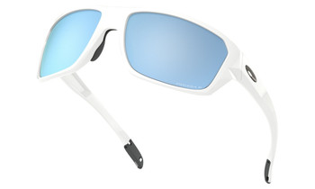 Oakley Split Shot Sunglasses - Polished White / Prizm Deep Water Polarised Low Angle