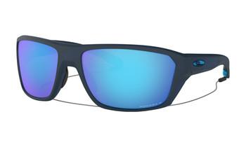 Oakley Split Shot Sunglasses - Matte Translucent Blue / Prizm Sapphire Polarised Angled