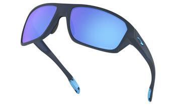 Oakley Split Shot Sunglasses - Matte Translucent Blue / Prizm Sapphire Polarised Lower Angle