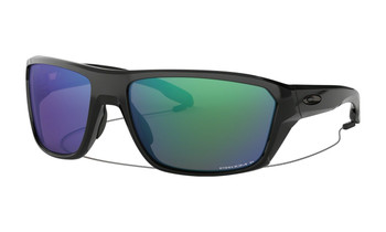 Oakley Split Shot Sunglasses - Polished Black / Prizm Shallow Water Polarised Angled