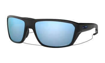 Oakley Split Shot Sunglasses - Matte Black / Prizm Deep Water Polarised Angled