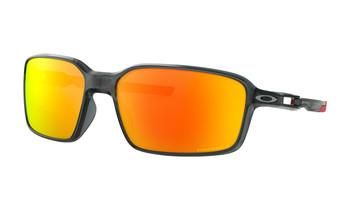 Oakley Siphon Sunglasses - Crystal Black / Prizm Ruby Polarised Angled