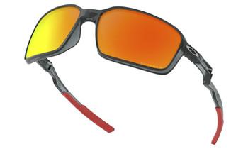 Oakley Siphon Sunglasses - Crystal Black / Prizm Ruby Polarised Lower Angle