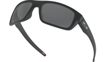 Oakley Drop Point Sunglasses - Matte Black / Prizm Black Polarised Low Angle