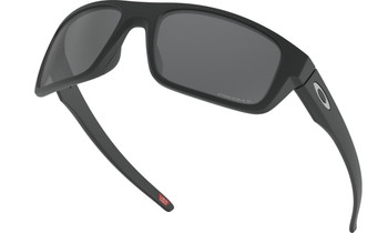 Oakley Drop Point Sunglasses - Matte Black / Prizm Black Polarised Low Angle