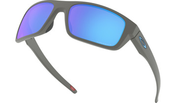 Oakley Drop Point Sunglasses - Matte Dark Grey / Prizm Sapphire Polarised Low Angle