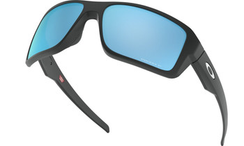 Oakley Double Edge Sunglasses - Matte Black / Prizm Deep Water Polarised Low Angle