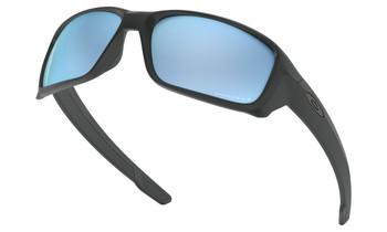 Oakley Straightlink Sunglasses - Matte Black / Prizm Deep Water Polarised Low Angle