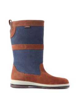 Dubarry Ultima Sailing Boots - Navy -Brown