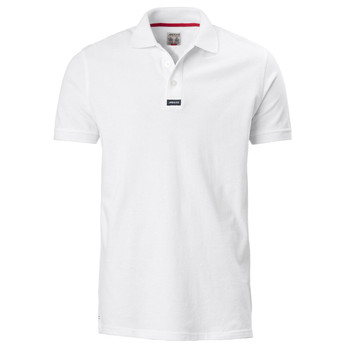 Musto Pique Polo  Short Sleeved Shirt - Mens White - 100% Cotton