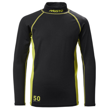 Musto Youth Championship Sunblock Long Sleeve Rash Vest - Black