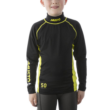 Musto Youth Championship SunblockLong Sleeve Rash Vest - Black