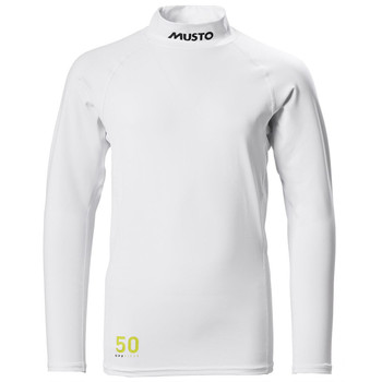 Musto Youth Championship Long Sleeve Rash Guard -White